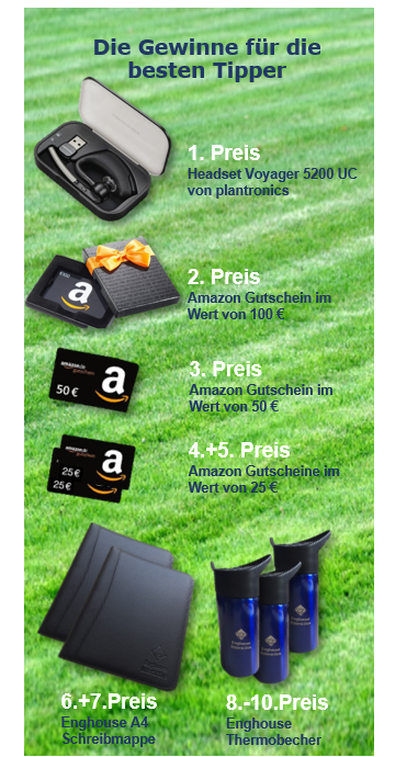 Prizes for Enghouse Football World Cup Predictions Game