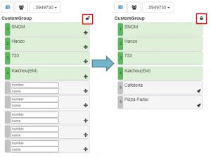 Kurzwahlen für Gruppen im Webclient